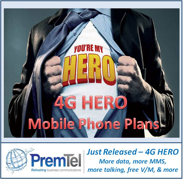 PremTel 4G Hero Mobile Plans